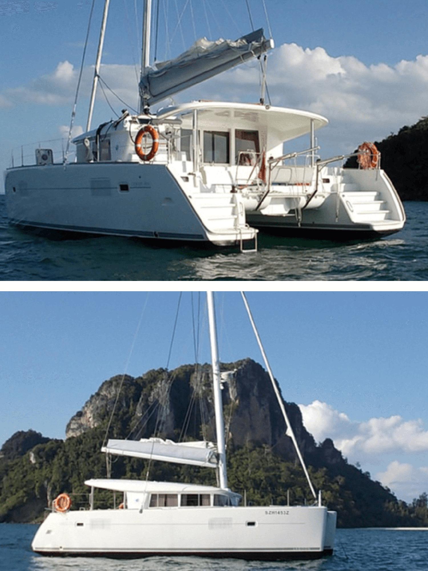 white sails