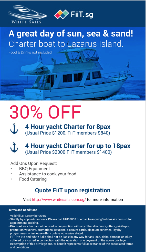 yacht charter promo singapore