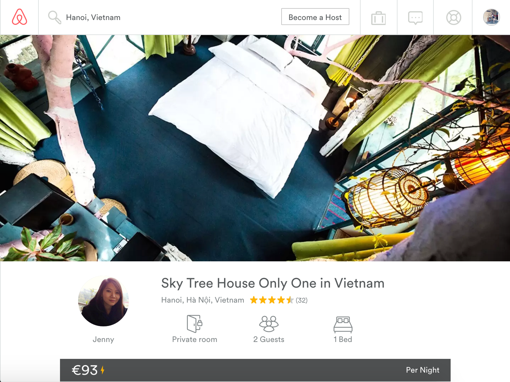 hanoi accoms treehouse
