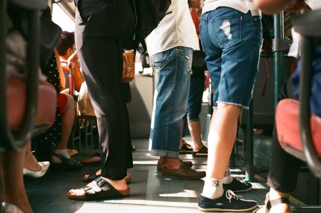 Work Morning Rush Hour Train