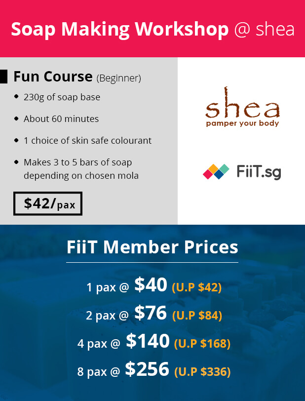 Shea Soap Making Workshop Price FiiT Discount Deal